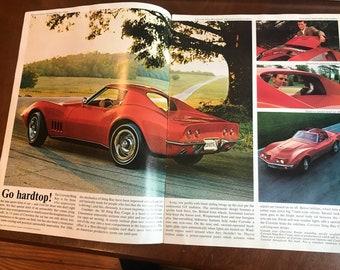 1968 Corvette Brochure . 1968 corvette . Checy corvette brochure . Vintage corvette . Antique corvette . Vintage chevy . Antique chevy .