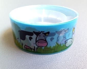 Masking tape-blue cow country milk 2.5 m