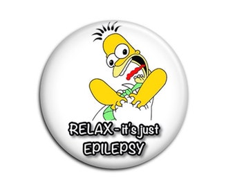 Epilepsy (B16) - Medical Alert Badge - Pinback Button - Pocket Mirror - Keychain - Keyring Bracelet