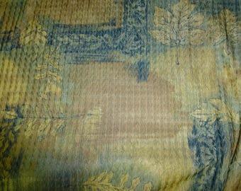 NO. 67-FABRIC COTTON AND VISCOSE - BRIGHT - BLUE BEIGE