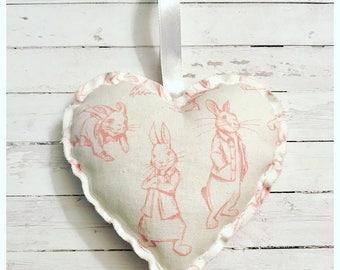 Peter Rabbit Hanging Heart Decoration