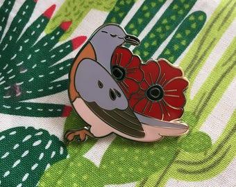 Passenger Pigeon Enamel Pin