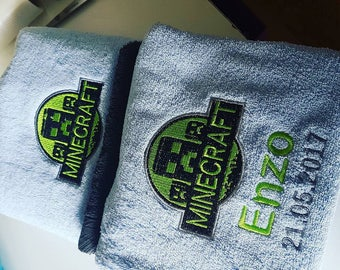 Set 3 PCs personalized towels