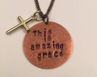 This Is Amazing Grace Necklace with pearl