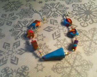 beautiful bracelet handmade, stylish, original (multicolor)