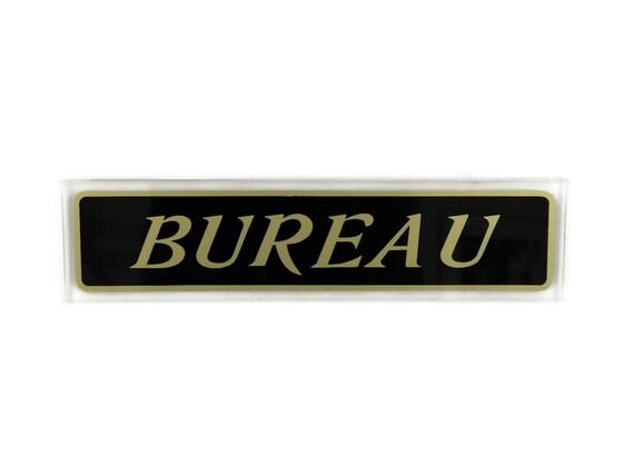 Plaque de porte bureau vintage fran ais signe de bureau - Plaque de porte de bureau ...