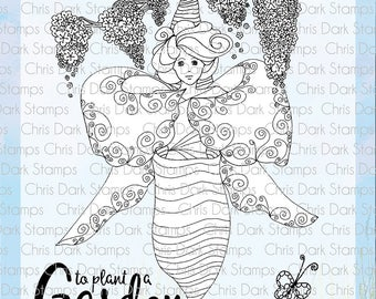 Butterfly Emerges Stamp Set by Chris Dark - Paperbabe Stamps - Clear Photopolymer Stamps - For paper crafting and scrapbooking.