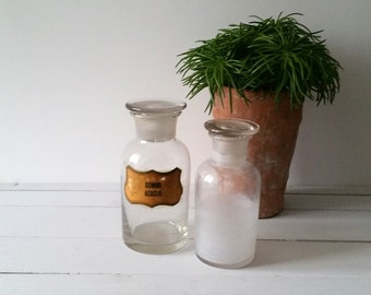Old vintage apothecary jars / bottles