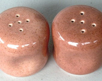 Set #1 Coral Salt and Pepper Shakers Russel Wright - American Modern - Steubenville - Vintage