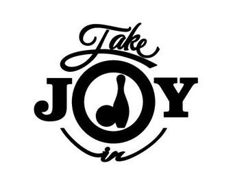 Take Joy In Bowling Decal