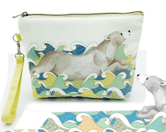 Pencil Pouch - Pencil Case - Planner Pouch - Purse - Wallet - Polar Bear Design