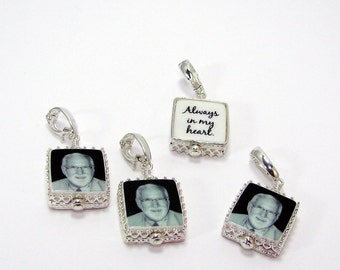 Sterling Framed Mini Photo Charms - FC4Cx4