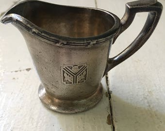 Silver Soldered small Restaurant Silver Creamer Carson Pirie Scott & Co International Silver Co