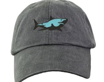 Great White Shark Baseball Hat - Embroidered.  Great White Shark Cap. Shark Gifts.  Shark Beach Hat. Love Sharks. HER-LP101