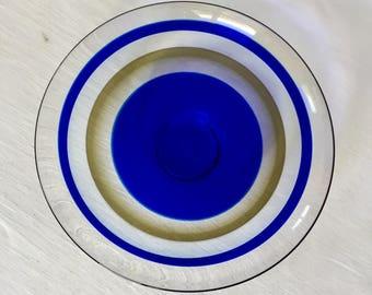 Orrefors Optical Art Low Glass Bowl