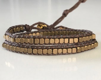 Brass Wrap Bracelet