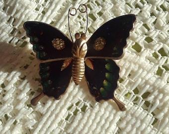 Colorful Enamel Butterfly Brooch.
