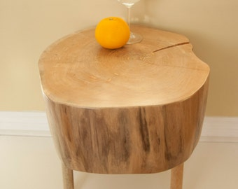 Live Edge Tree Trunk Coffee Table