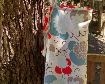 NurseRetreat Breastfeeding / Nursing Cover with Back Strap and Attached Carry Bag