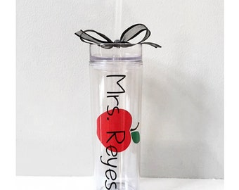 Teacher cups, gifts for teacher, school gift, teacher present, bus driver gift, teacher cup, apple