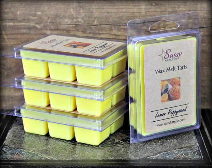 LEMON POPPYSEED | Wax Melt Tart | Sassy Kandle Co.