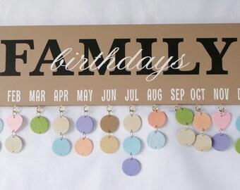 Family Celebration Board - Family Birthday Calendar - Birthday Sign - Family Birthdays - Family Calendar - Family Celebrations - Birthdays