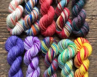 Paintbox Yarn Mini Skein Set -- 10 Mini Skeins/25 Yards Each