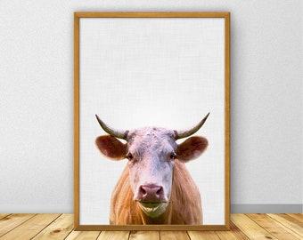 Cow Print, Cow Nursery, Farm Animals Nursery, Cow Printable, Farm Animal Print, Cow Photography, Cow Wall Art Large (W0540)