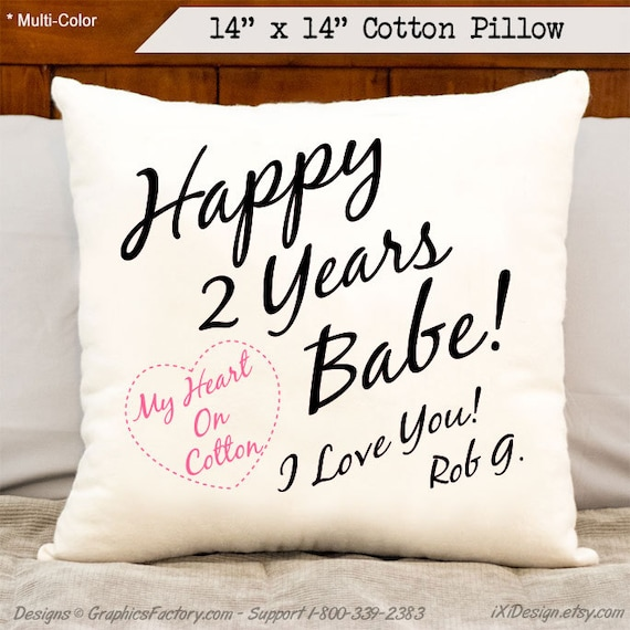 2nd anniversary cotton happy 2 years babe i love you 2nd