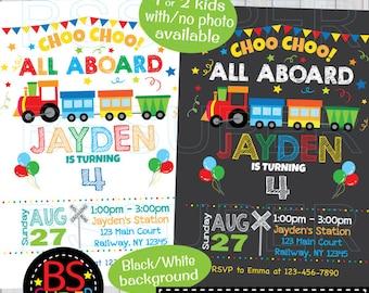 Train Birthday Invitation Party Invitations Invite