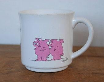 Vintage Sandra Boynton Pig Mug