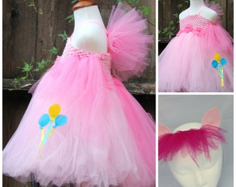 My little pony Pinkie Pie Costume - Pinkie Pie 2 item Costume -  Pinkie Pie dress - Pinkie Pie ears headband