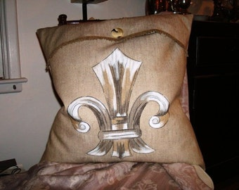 Fleur de Lis III Pillow Slipcover