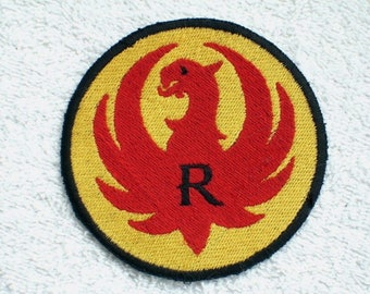 Ruger Embroidered Patch, Gun, Revolver, biker vest patch, New for jacket, hat, vest