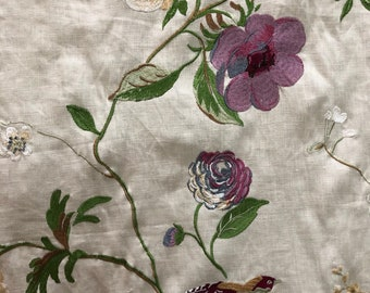 "Lee Jofa ""Meadowood"" Fabric Yardage in Color ""Alabaster"""