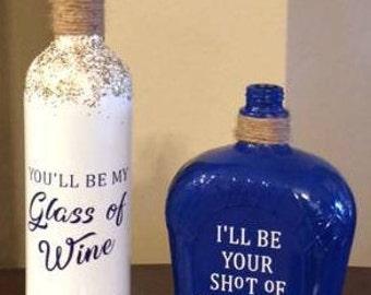 Wine Bottle Tiki Torch or Home Decor