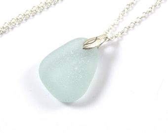 Mer verre collier - écume de mer - plage verre collier - Bijoux en verre de mer - fête des mères - la ligne de rivage - Northumberland - CHIANA