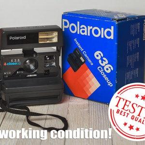 Polaroid Close Up 636 Polaroid Camera Vintage Camera Retro Camera with original box Xmas Christmas gift for photographer Gift for him