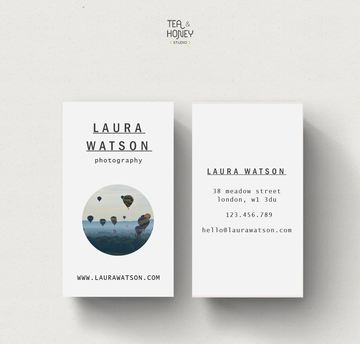 Photography calling card premade business card modern