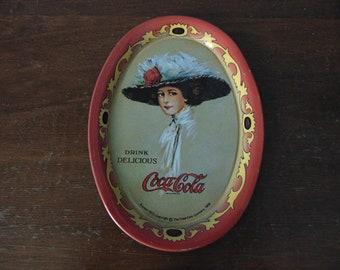 Coca-Cola Tip Tray Reproduction Hamiltom King Girl