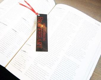 Braveheart Mel Gibson Sophie Marceau Angus Macfadyen - Recycled VHS bookmark spine
