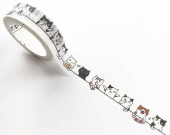 Spending Time Like a Cat Washi Tape