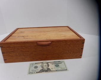 Beautiful spalted maple and mahogany jewelry box