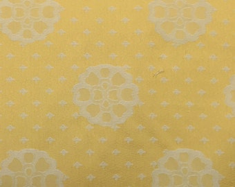 Yellow Floral Medallion - Upholstery Fabric by the Yard
