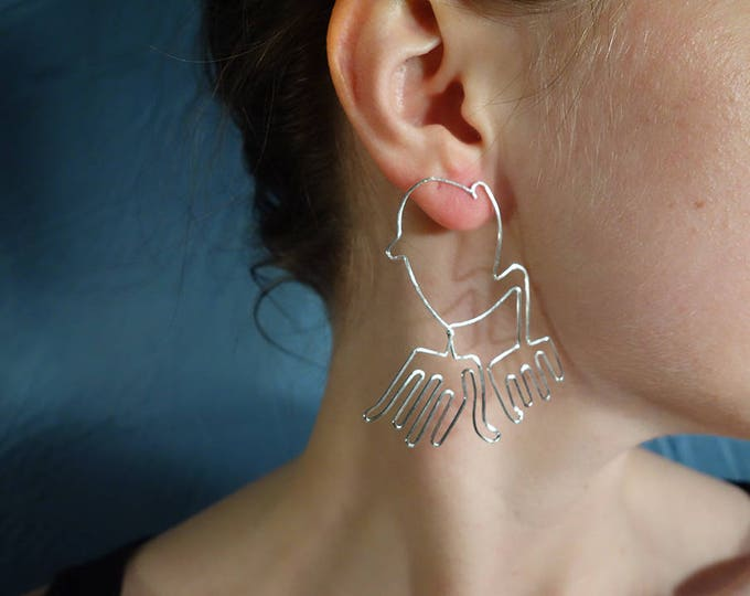 Manos, Nazca inspired earrings