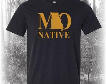 Black Missouri Native Shirt, Native Missouri Shirt, Missouri Shirt, MO Shirt, Missouri State Shirt