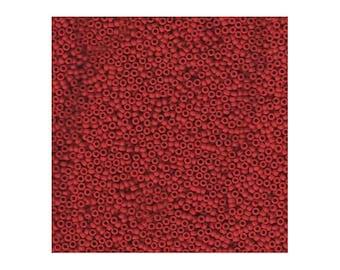 Miyuki Seed Beads 15/0 15-408F Matte Opaque Red 8.2g, Round Seed Beads, Glass Seed Beads, Japanese Size 15 Seed Beads