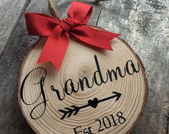 Grandma Ornament-Baby Announcement