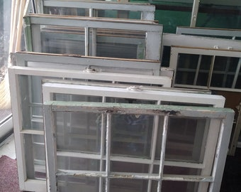 Vintage Window Divided Pane Farmhouse Craft several options DIY Collectible reclaimed wedding decor