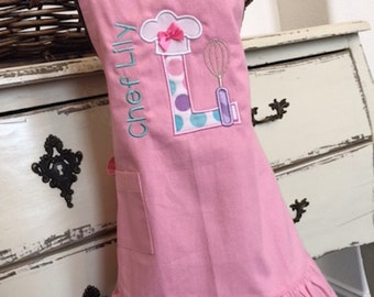 Kids Apron - Personalized Chef (Large fits ages 7-11)